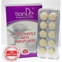 """БАД """"Бял трън с рибофлавин"""", 1 опаковка / 30 таблетки"""